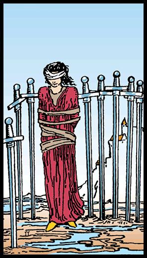 Kılıçların Sekizlisi - Tarot Kartı